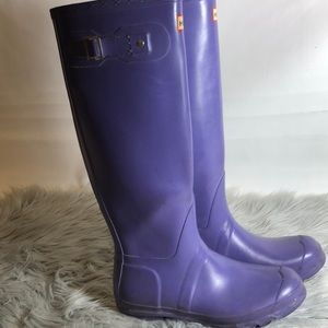 ✨HUNTER BOOTS PURPLE ✨